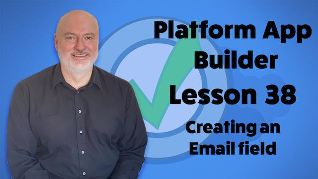 Lesson 38 - Creating an Email Field