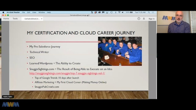 Presentation Replay to Ottawa Admin Group - The Silver Linings of a Cloud Career