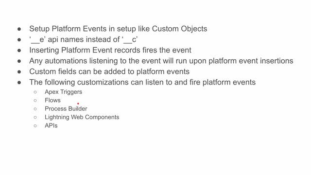 Lesson 39 - Intro to Platform Events