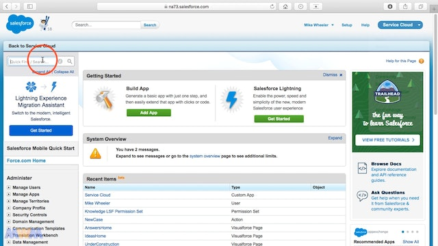Adding the Supervisor Panel to the Salesforce Console