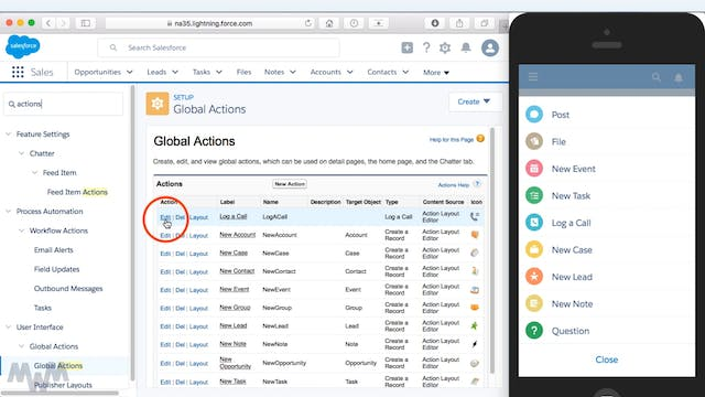 Creating Global Actions for Salesforc...