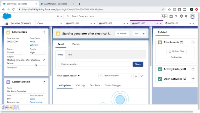 Customizing the Service Console with the Lightning App Builder