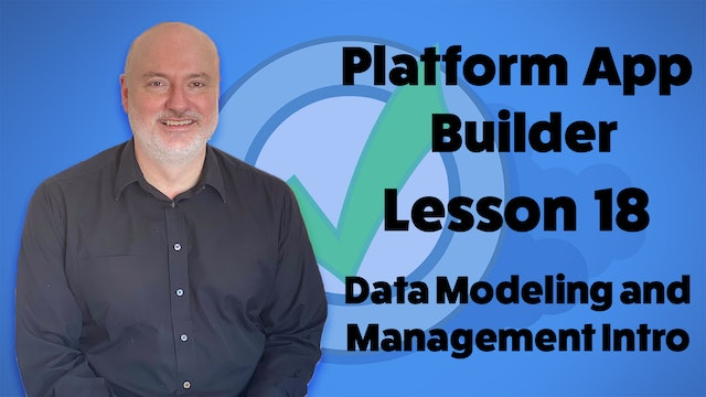 Lesson 18 - Data Modeling and Management Introduction