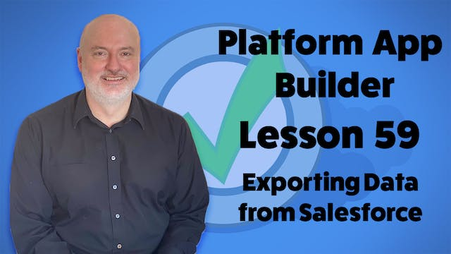 Lesson 59 - Exporting Data from Sales...