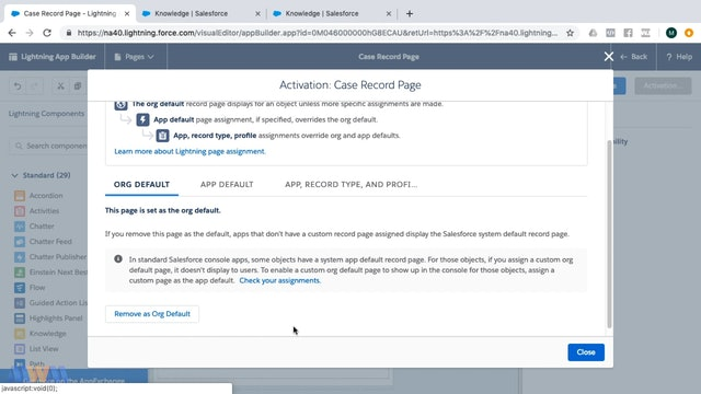 Using Knowledge Articles While Working Cases