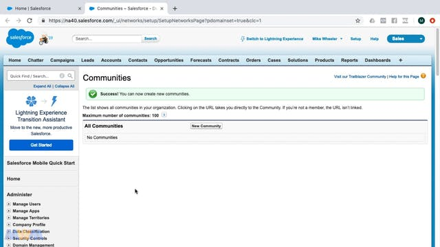 Salesforce Communities Introduction