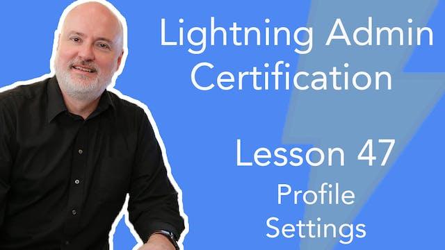 Lesson 47 - Profile Settings in the O...