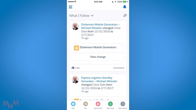 Touring the Salesforce Mobile User Interface, Navigation, and Global Actions