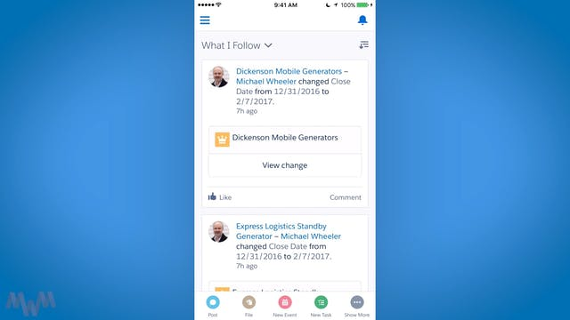 Touring the Salesforce Mobile User In...