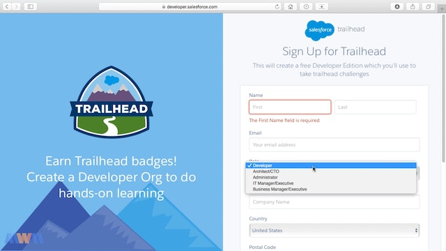 Signing Up for a Free Salesforce Account - Keep it For Life