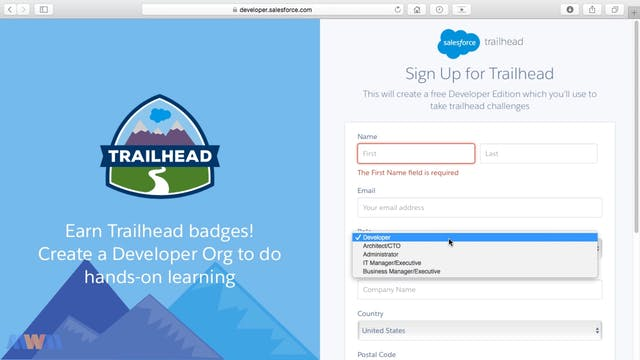 Signing Up for a Free Salesforce Acco...