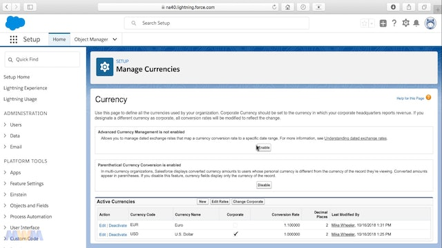 Enabling Advanced Currency Management