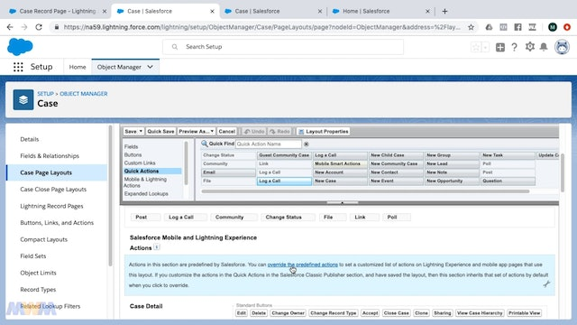 Case Feed Customization in Lightning Experience - Log a Call Quick Action