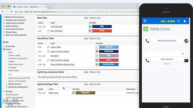 Customizing the Salesforce Mobile Nav...