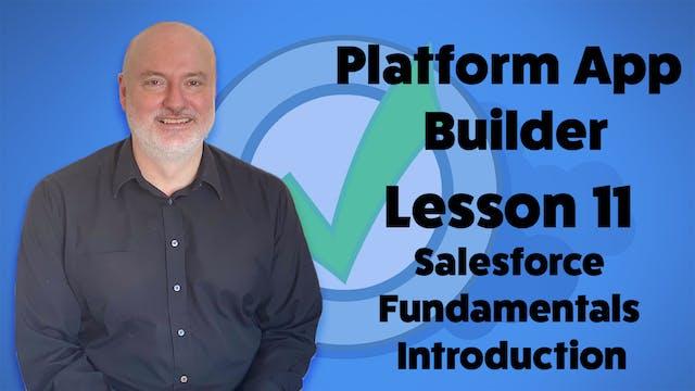 Lesson 11 - Salesforce Fundamentals I...