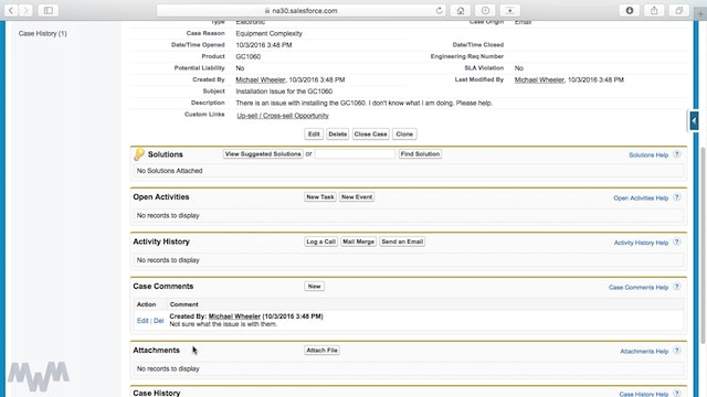 Creating, Managing and Closing Cases in Salesforce