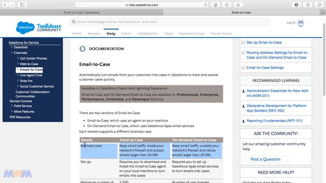 Email to Case vs. On-Demand Email to ...