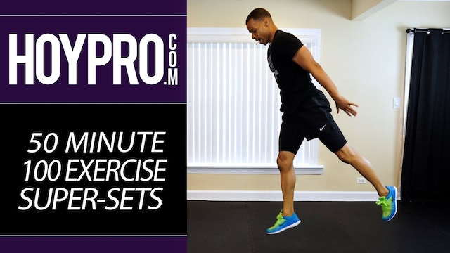 50 Minute 100 Exercises Cardio HIIT Super-Sets - Full Body No Equipment Workout