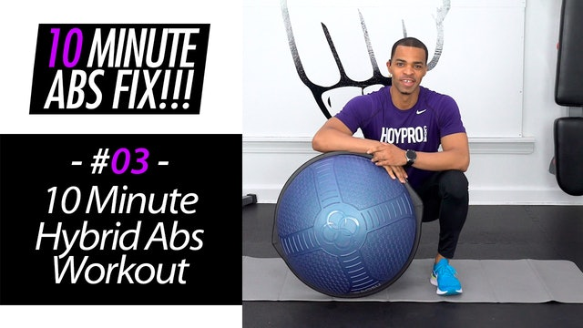 10 Minute BOSU Ab Workout - Abs Fix #003