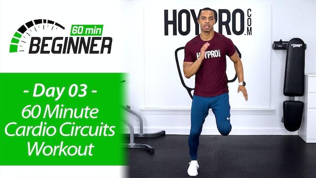 60 Minute Beginners Pure Cardio Circuits + Abs - Beginners 60 #03