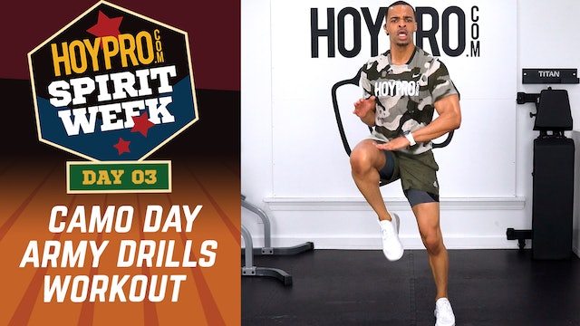 Day 03 - Camo Day - 30 Minute Army Drills Workout - Spirit Week #01