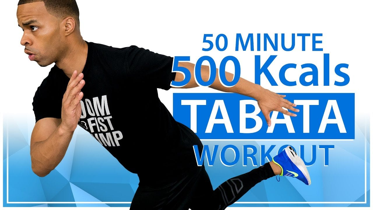 50 Minute Fat Burning Tabata HIIT Cardio Home Workout ...