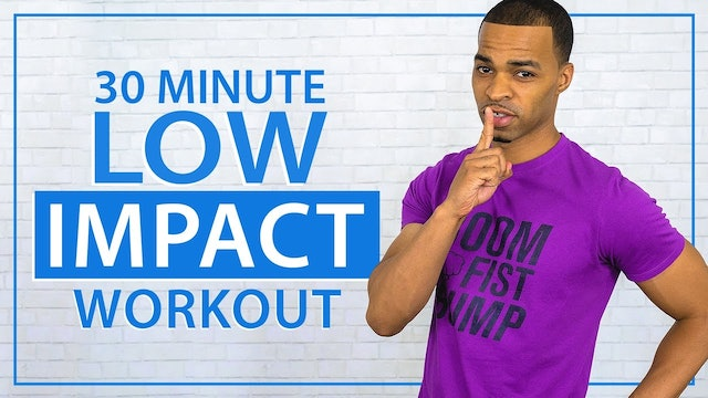 30 Minute Quiet Low Impact Full Body HIIT Workout