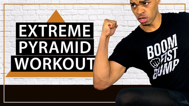45 Minute Extreme Fat Burning Cardio HIIT Pyramid Workout