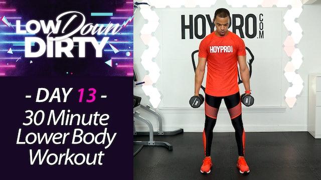 30 Minute WHEELS - Lower Body Intermediate Workout - Low Down #13