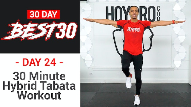30 Minute Hybrid Tabata HIIT CRUSHER Workout - Best30 #24