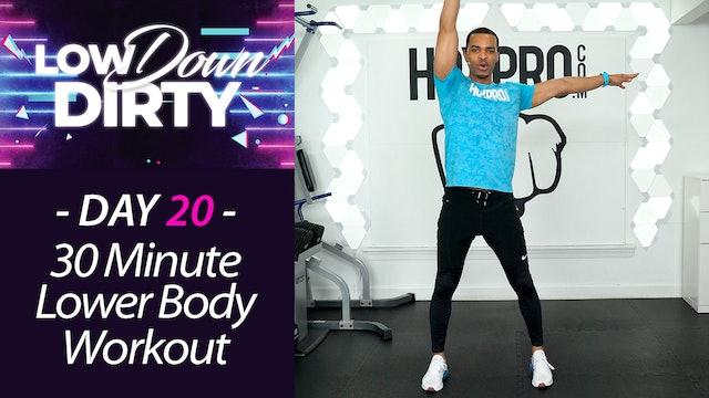 30 Minute WHEELS - Lower Body Intermediate Workout - Low Down #20