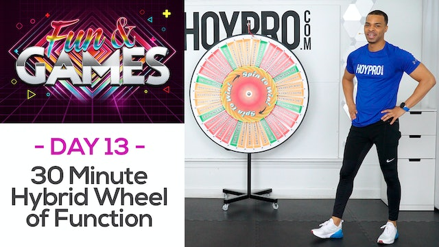 30 Minute Wheel of Function Hybrid Spin Wheel Workout - Fun & Games #13