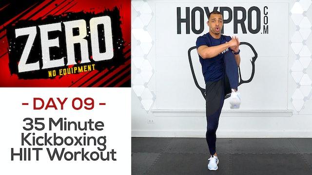 35 Minute BRUTAL Kickboxing HIIT Workout - ZERO #09