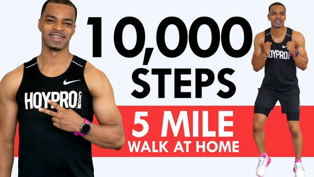 80 Min 10,000 Steps Indoor Walking No Jumping Workout