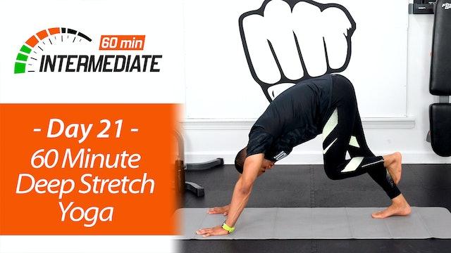 60 Minute Intermediate Deep Stretch & Recovery Yoga - Intermediate 60 #21