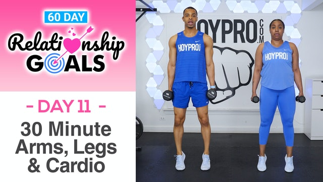 30 Minute COMPROMISE Arms Legs & Cardio Workout - Relationship Goals #11