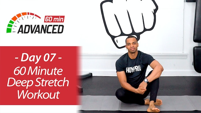 60 Minute Deep Stretch Yoga and Recovery Workout - Advanced 60 #07