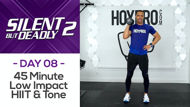 45 Minute Low Impact HIIT & Tone Circuit Workout - SBD2 #08