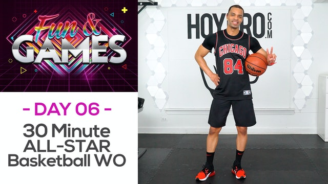 30 Minute All-Star Basketball Themed Workout - Fun & Games #06