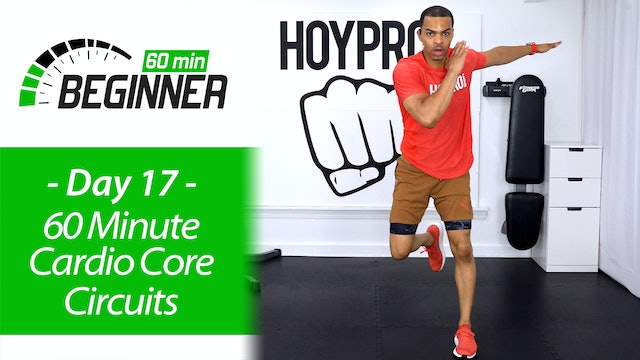 60 Minute Beginners Cardio Core Circuits + Abs Workout - Beginners 60 #17