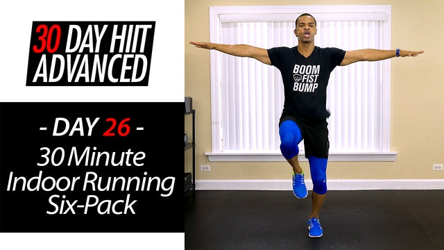 30 Minute Indoor Running Standing Abs Workout - Advanced #26