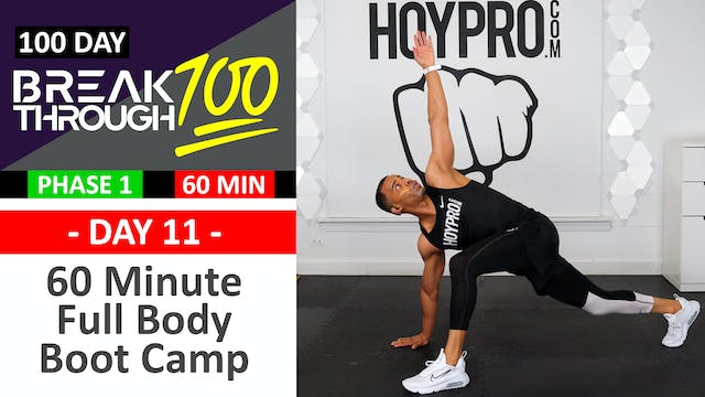 #11 - 60 Minute Full Body Boot Camp Drills Workout - Breakthrough100