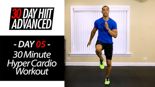 30 Minute Hyper Pure Cardio Indoor Running Workout - Advanced #05