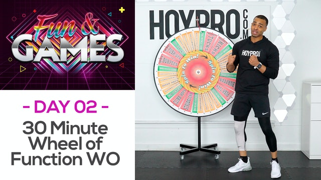 30 Minute Wheel of Function Spin Wheel Bodyweight Workout - Fun & Games #02