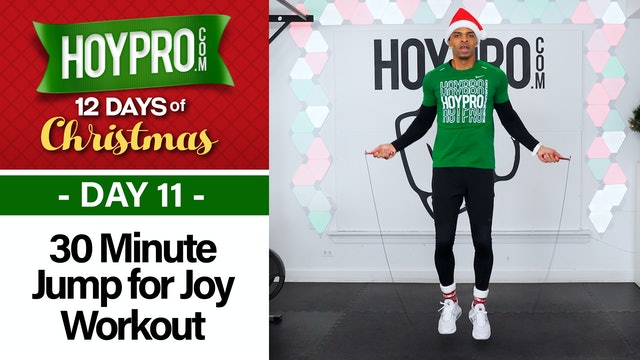30 Minute Jump for Joy - Jump Rope HIIT Workout - 12 Days of Christmas #11
