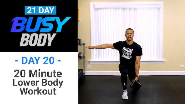 20 Minute Lower Body Workout - Busy Body #20