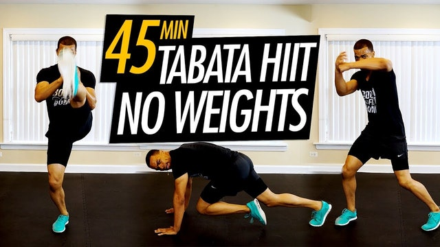 45 Minute Tabata Cardio HIIT Workout for Fat Loss (No Equipment)
