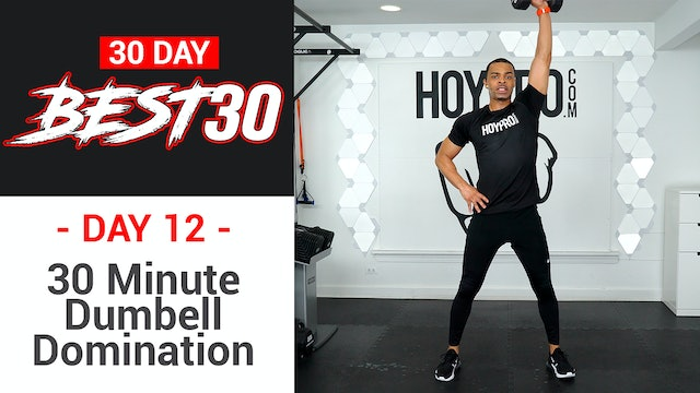 30 Minute Dumbbell Domination Workout - Best30 #12
