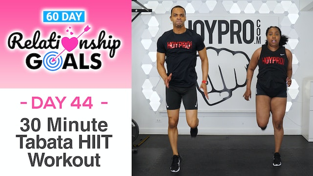 30 Minute HAPPINESS Tabata HIIT Workout - Relationship Goals #44