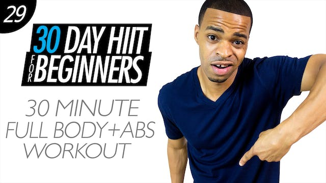 Beginners #29 - 30 Minute Total Body Cardio  & Abs